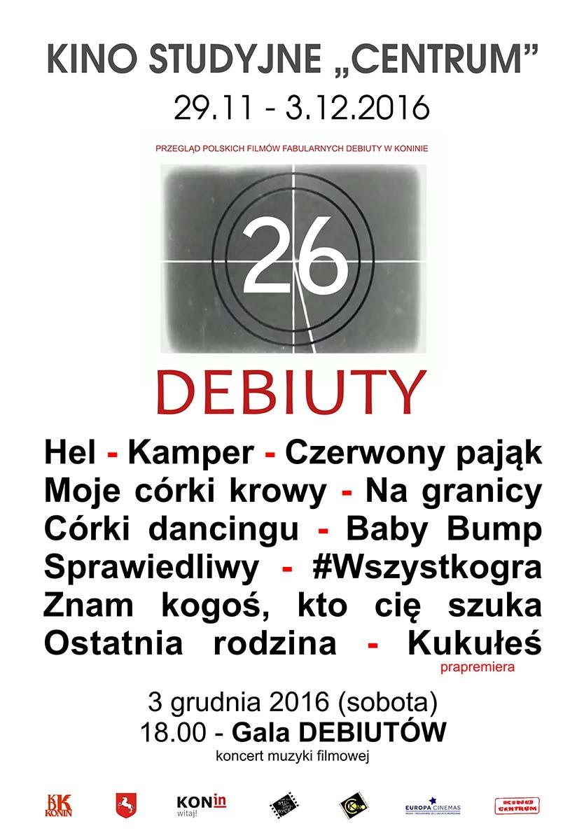 26. DEBIUTY pełne debiutów